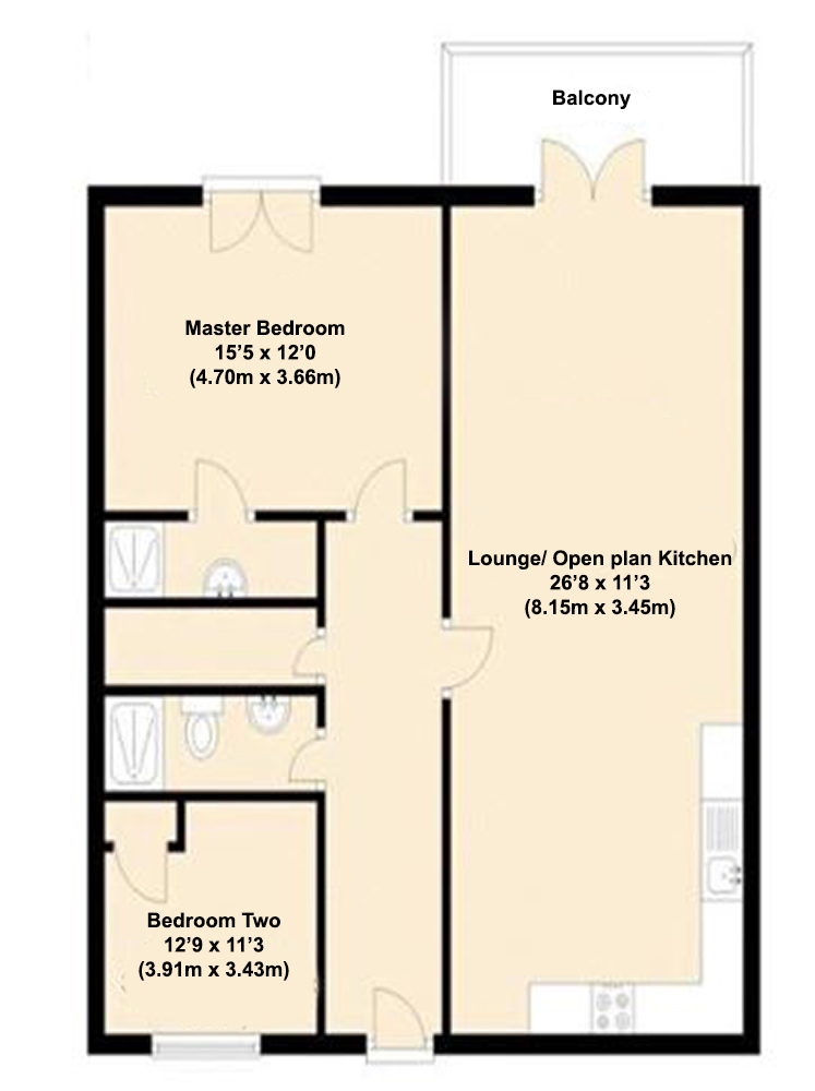 2 Bedrooms For Sale In Willbrook House Worsdell Drive