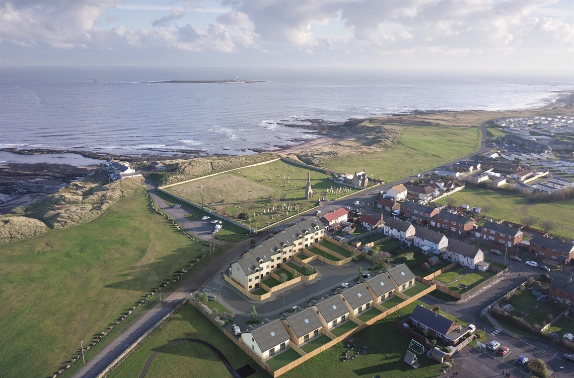 Townhouses at Roseate View, Links Road, Amble