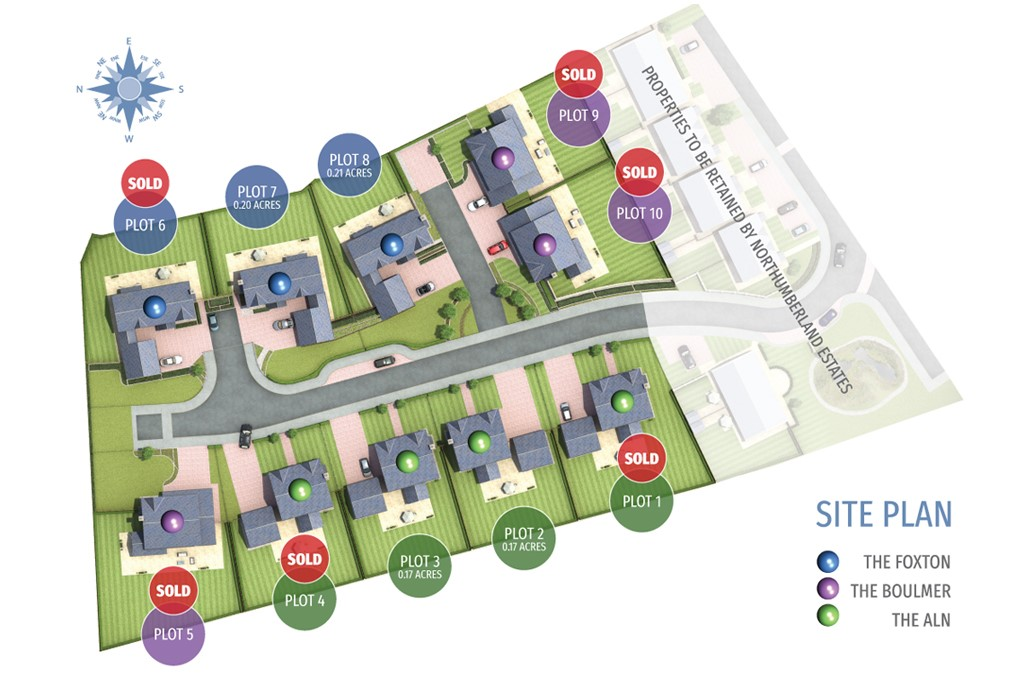 Plot 3 (The Aln), Foxton Glade, Lesbury – View Home available to view by appointment with the Alnwick Office