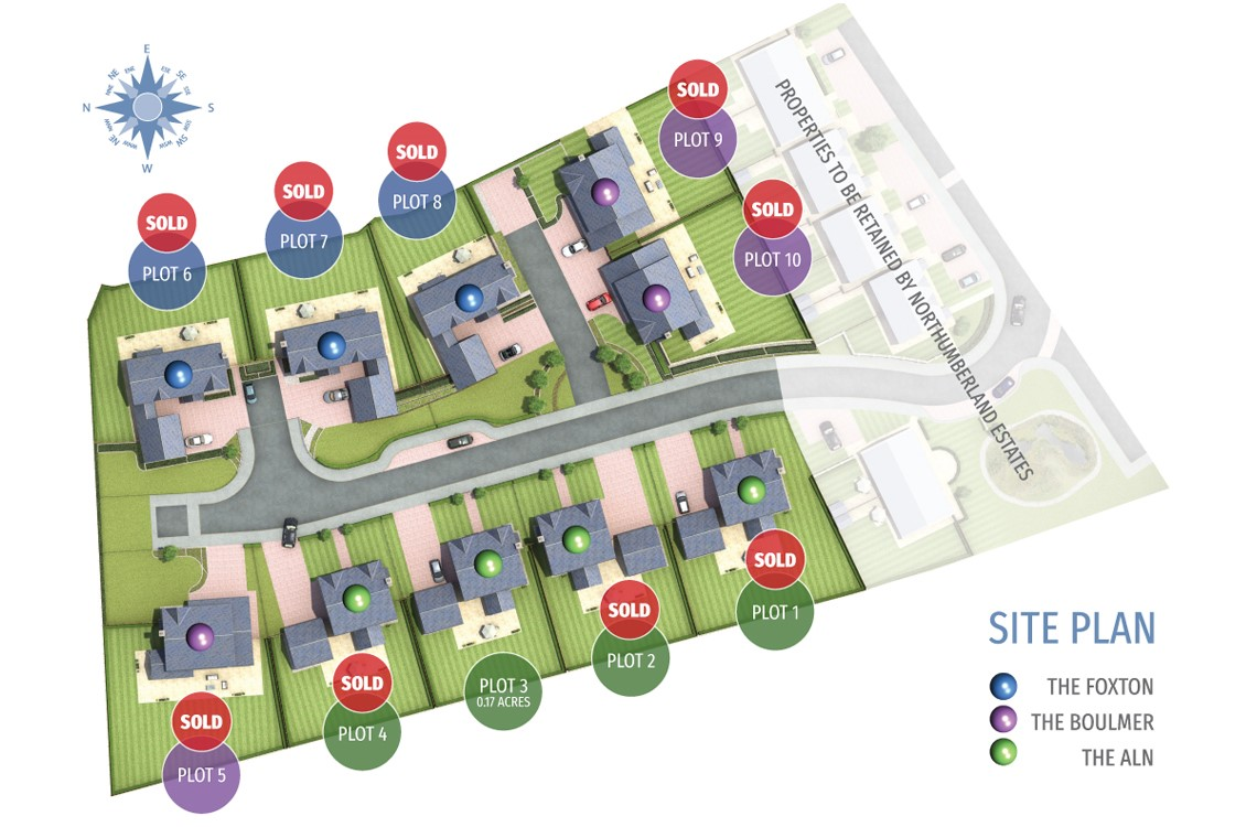 Plot 3 (The Aln), Foxton Glade, Lesbury – DEVELOPMENT ALL SOLD OUT!