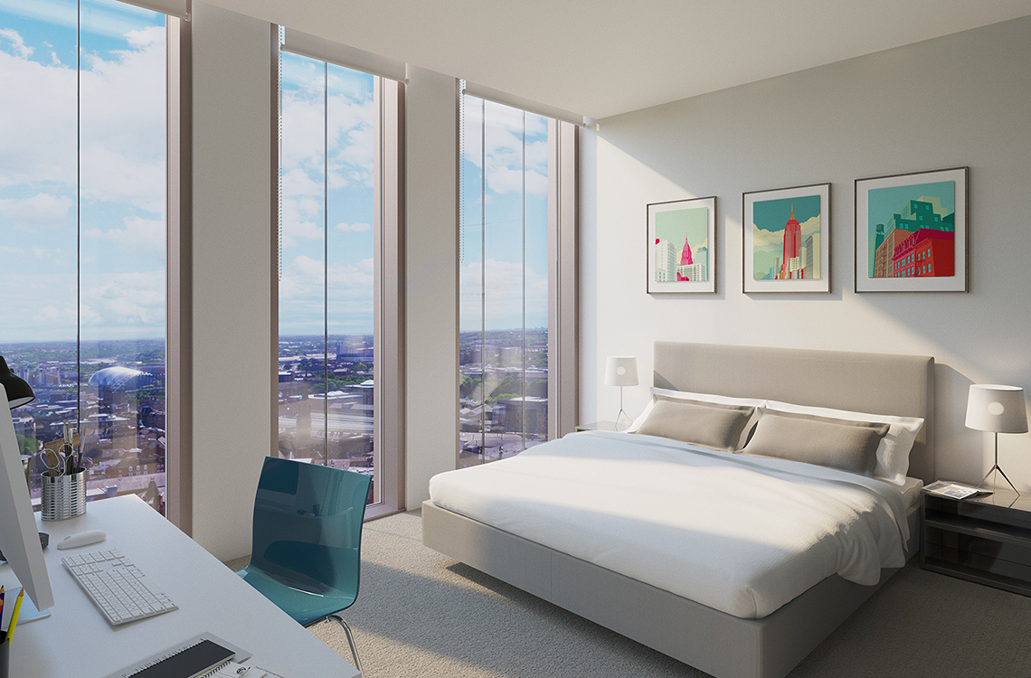 Apartment 142, (22nd Floor), Hadrian's Tower, City Centre, Newcastle upon Tyne